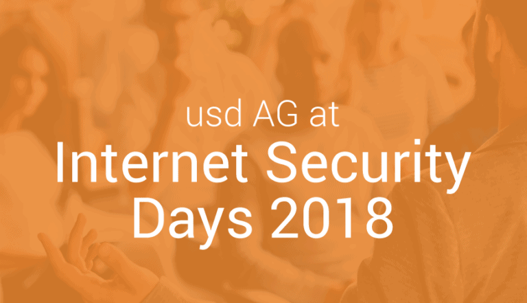 usd at Internet Security Days 2018