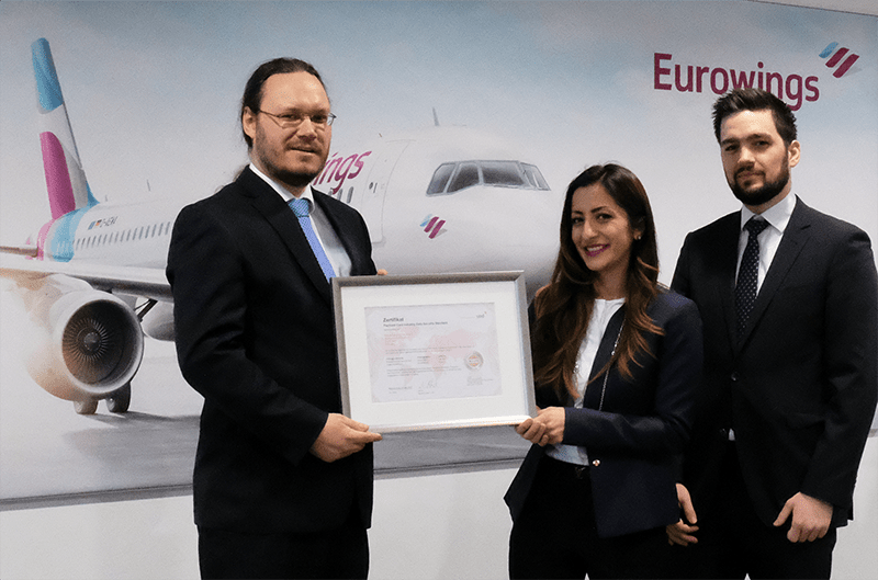Eurowings successfully certified against PCI DSS