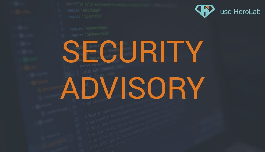 Security Advisory 07/2020