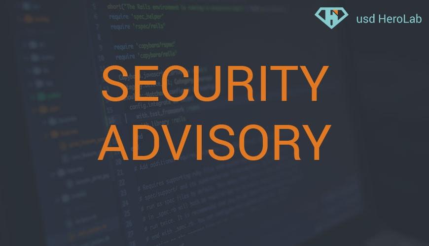 Security Advisory 06/2020
