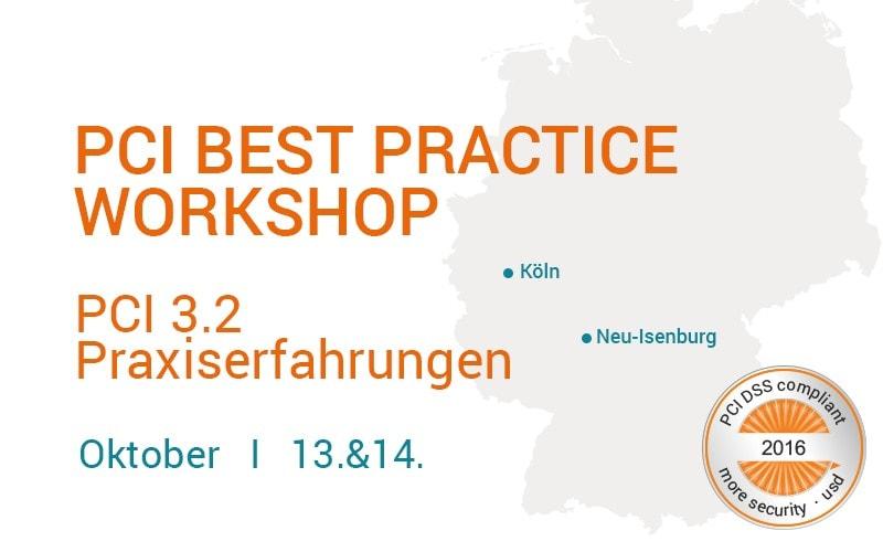 PCI Best Practice Workshop