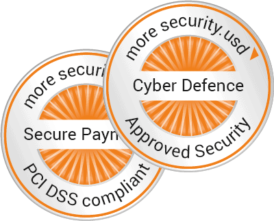 Siegel Cyber Defence und Secure Payment