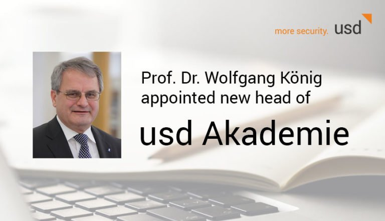 Prof. Dr Wolfgang König Appointed New Head of usd Akademie