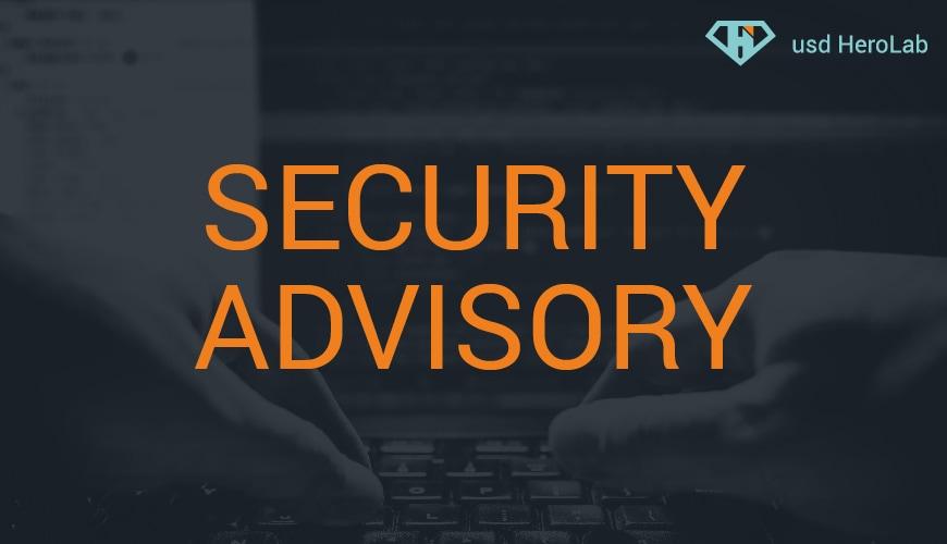Security Advisory 08/2021