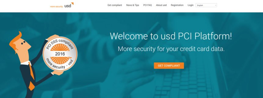 New look-and-feel of usd PCI Platform
