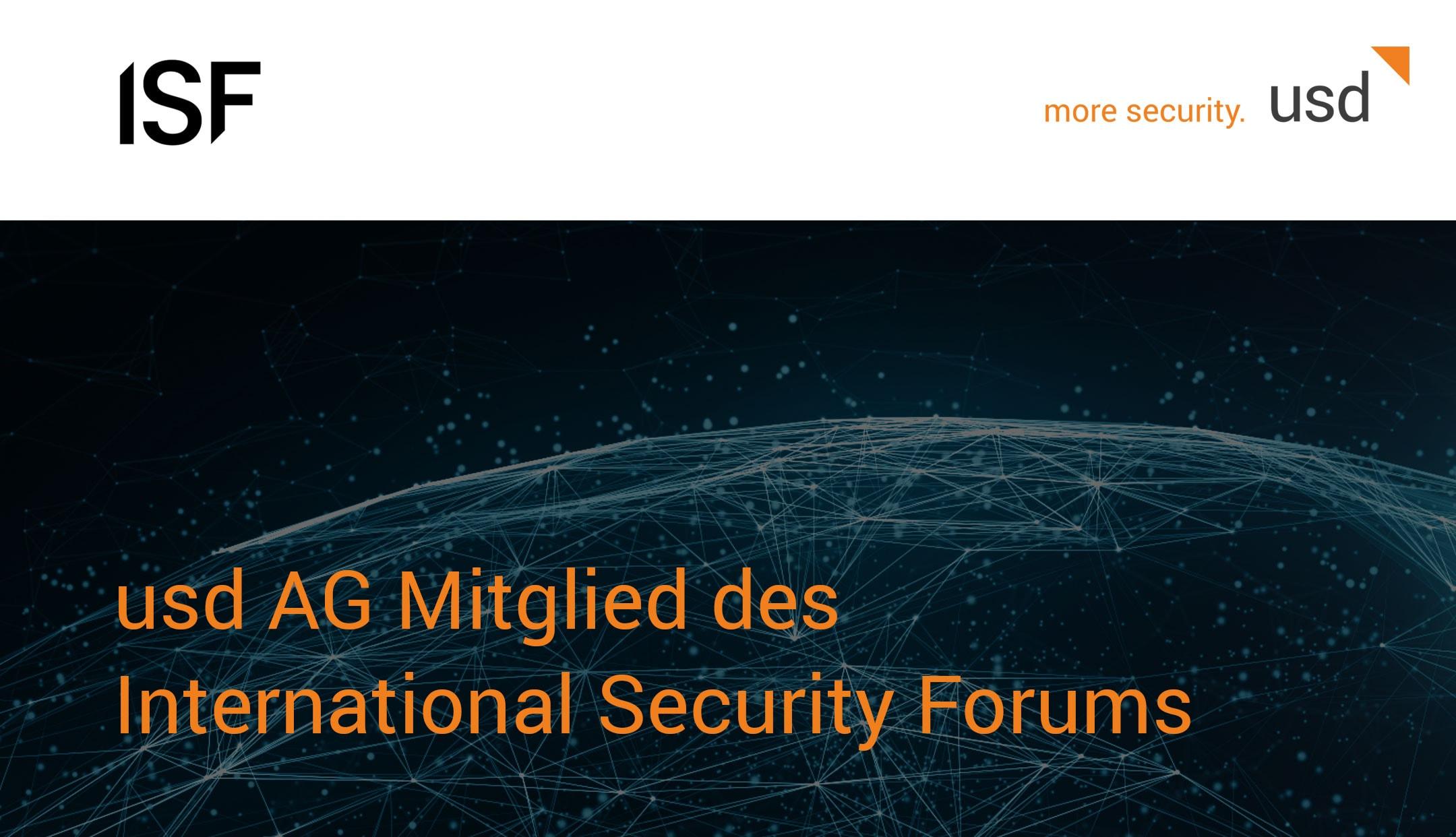 usd AG Mitglied des International Security Forums